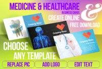 Medical Business Cards Templates Free Download Medicine in Medical Business Cards Templates Free