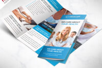 Medical Care And Hospital Trifold Brochure Template Free Psd in Free Brochure Template Downloads
