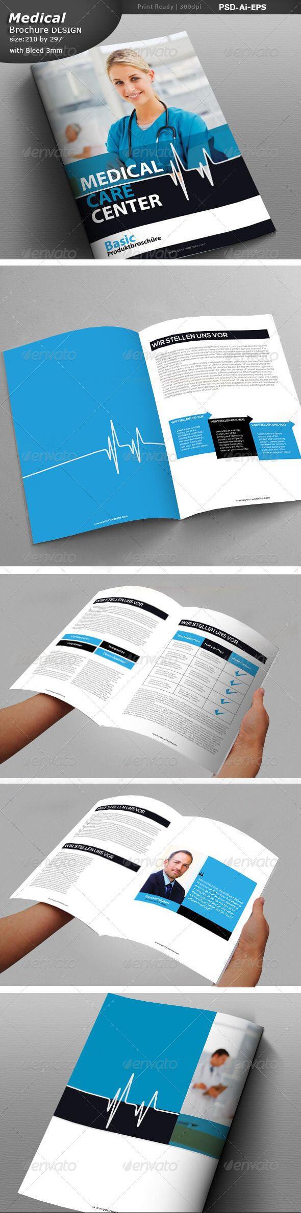 Medical Center Brochure Design - Print Templates | Ads in Medical Office Brochure Templates