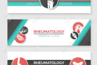 Medical Clinic And Health Center Banner Template Set. Round Badges.. intended for Medical Banner Template