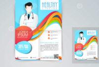 Medical Flyer, Banner Or Brochure. Stock Illustration within Healthcare Brochure Templates Free Download