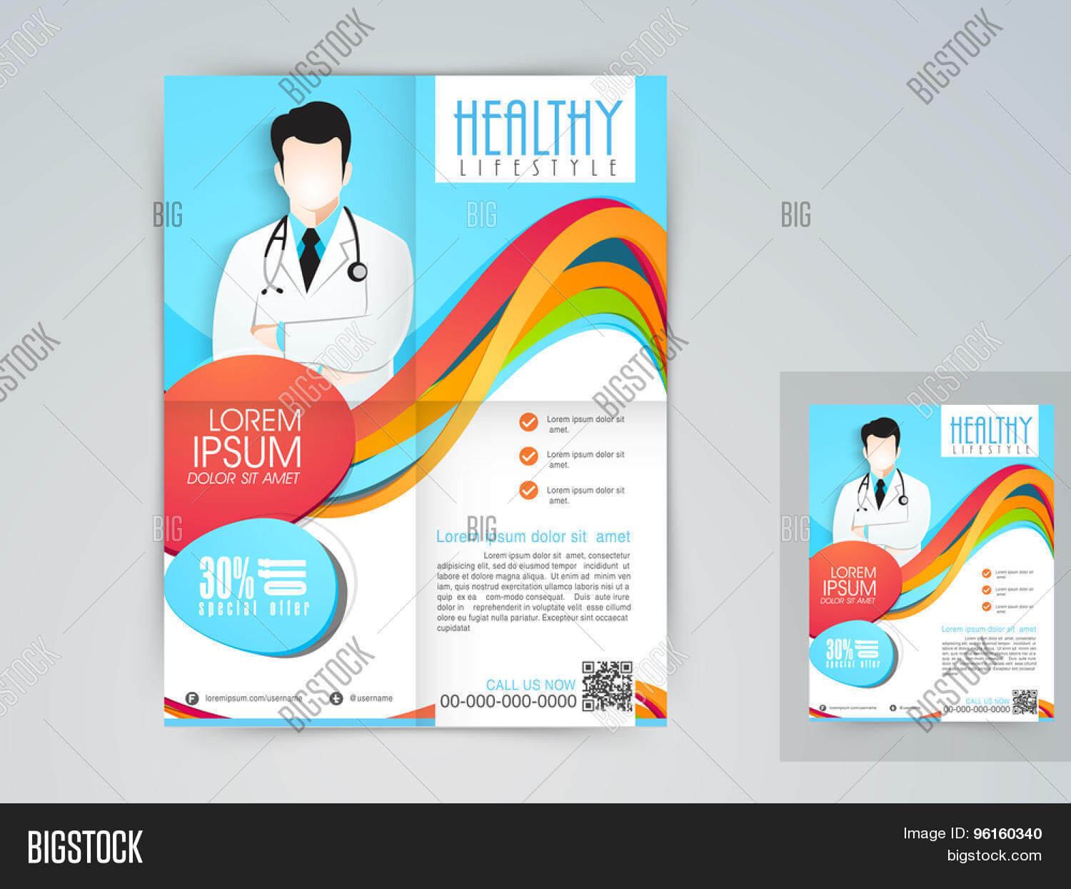 Medical Flyer, Banner Vector & Photo (Free Trial) | Bigstock in Medical Banner Template