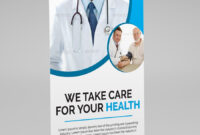 Medical Health Roll Up Banner Template. This Layout Is Inside Medical Banner Template
