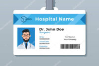 Medical Id Card Template | Doctor Id Card Template. Medical intended for Personal Identification Card Template
