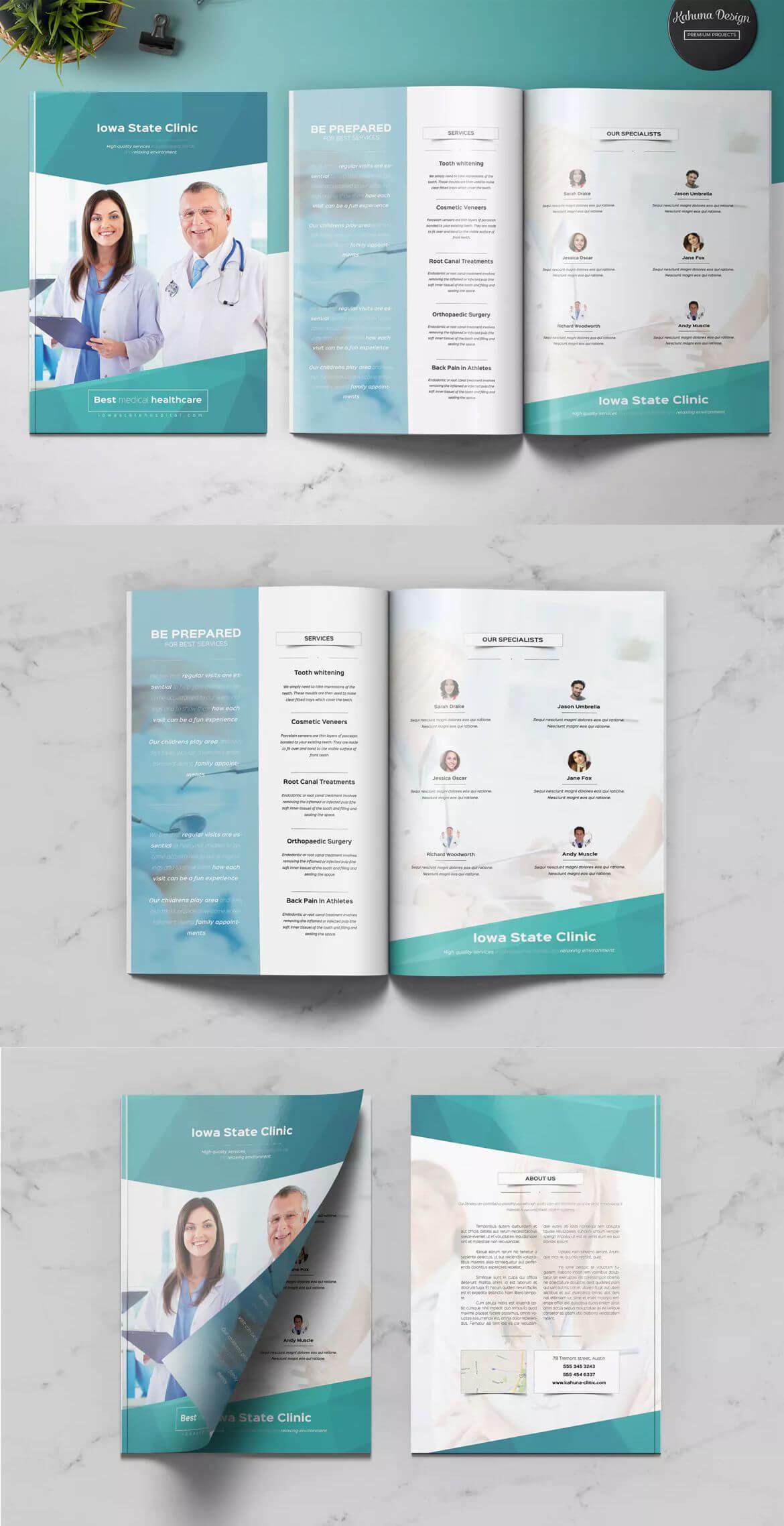Medical Multipurpose Brochure Template Indesign Indd - A4 + inside Brochure Template Indesign Free Download