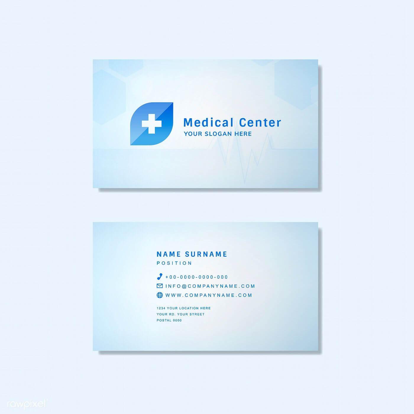 Medical Professional Business Card Design Mockup | Free With Medical Business Cards Templates Free