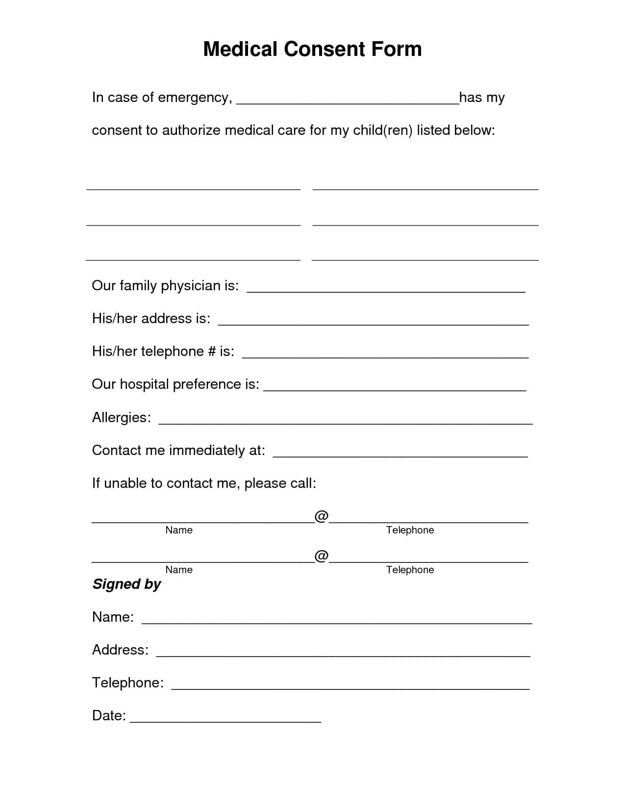Medical Release Form Template - 30+ Medical Release Form with regard to Fit To Fly Certificate Template