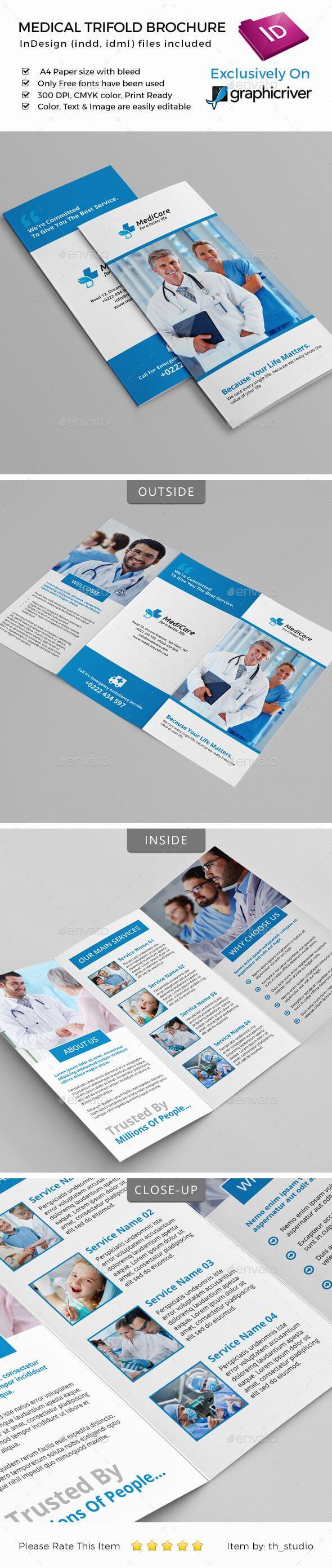 Medical Trifold Brochure | Brochure Templates | Travel within Medical Office Brochure Templates