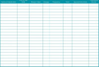 Medication List Template | Template Business Regarding Blank Medication List Templates