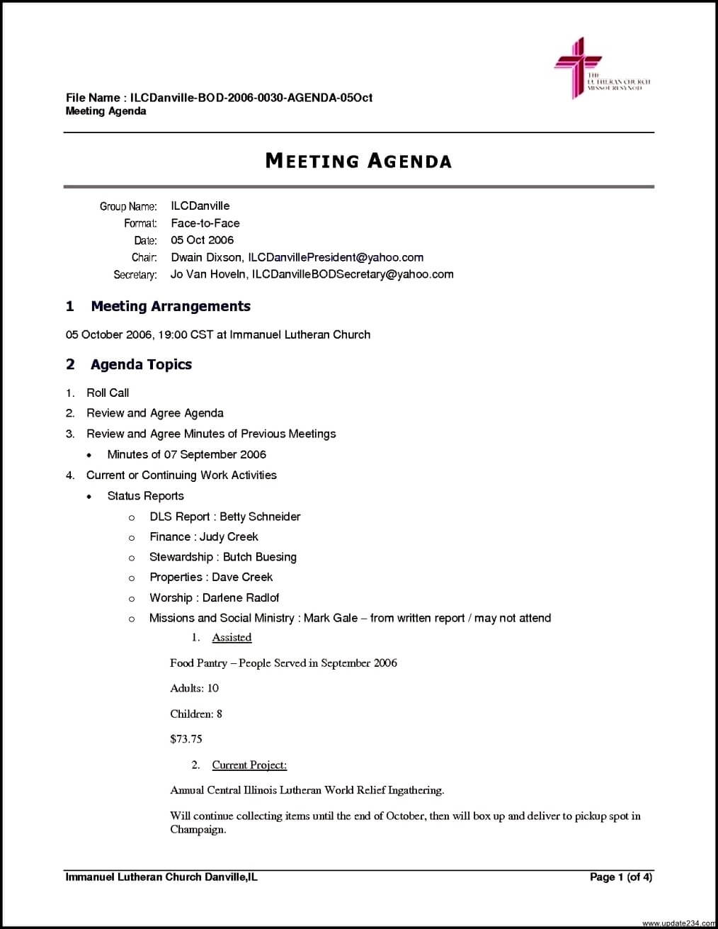 Meeting Agenda Template Free Brochure Templates Blank with regard to Agenda Template Word 2010