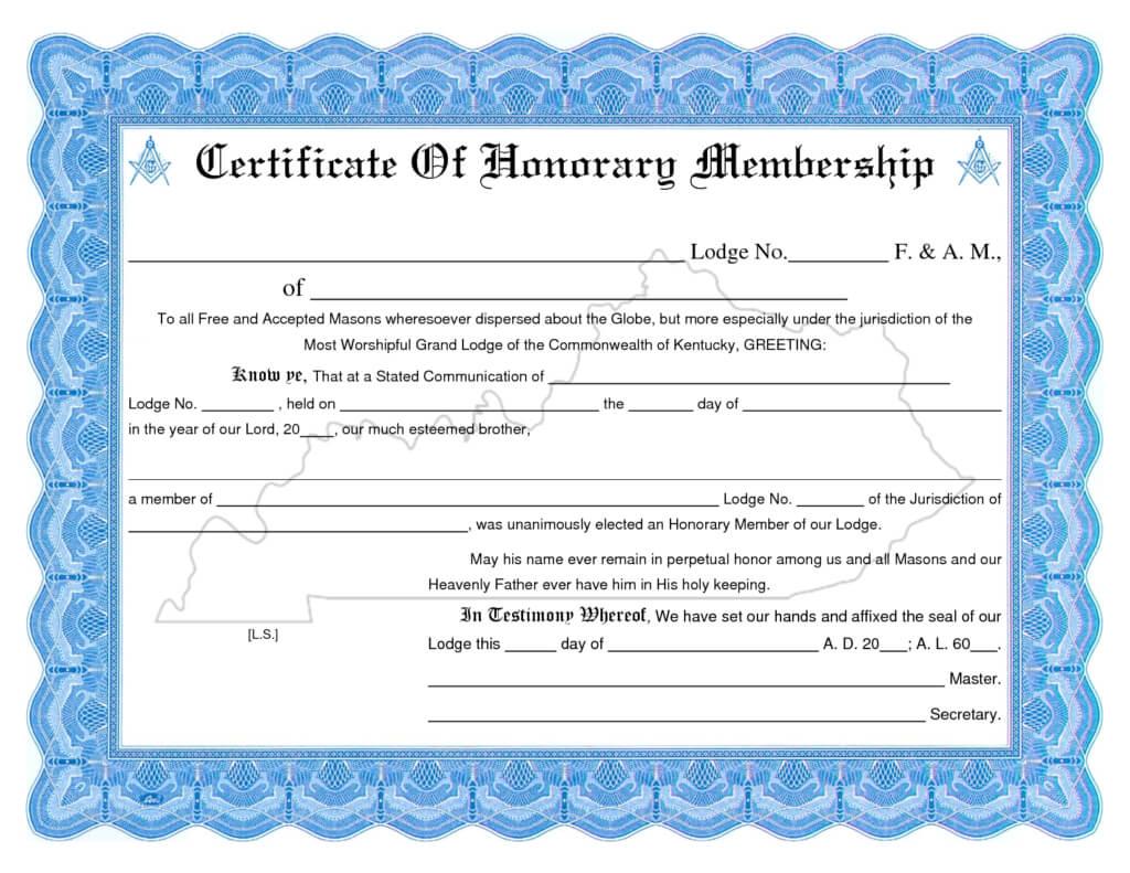 Membership Certificate Template | Certificate Templates with Life Membership Certificate Templates