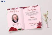 Memorable Funeral Greeting Card within Memorial Card Template Word