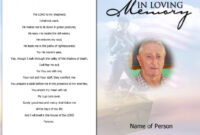 Memorial Card Template | Template Business in Memorial Cards For Funeral Template Free