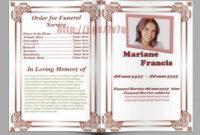 Memorial Service Program Template Download … | Memorial intended for Memorial Brochure Template