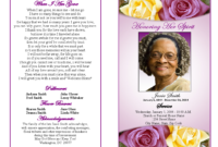 Memorial Service Programs Sample | Choose From A Variety Of for Memorial Card Template Word