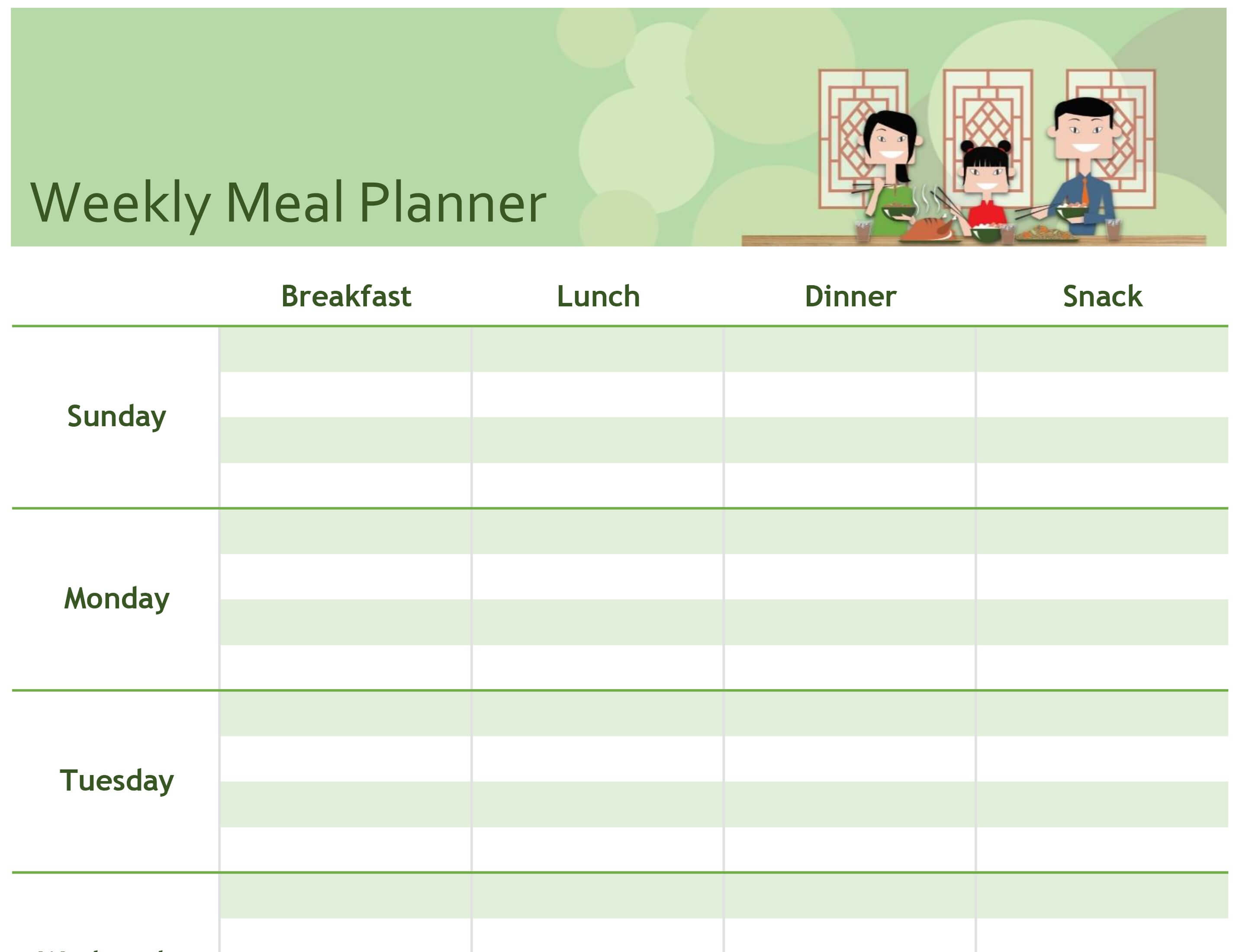 Menu Planning Template Word - Atlantaauctionco with Weekly Meal Planner Template Word