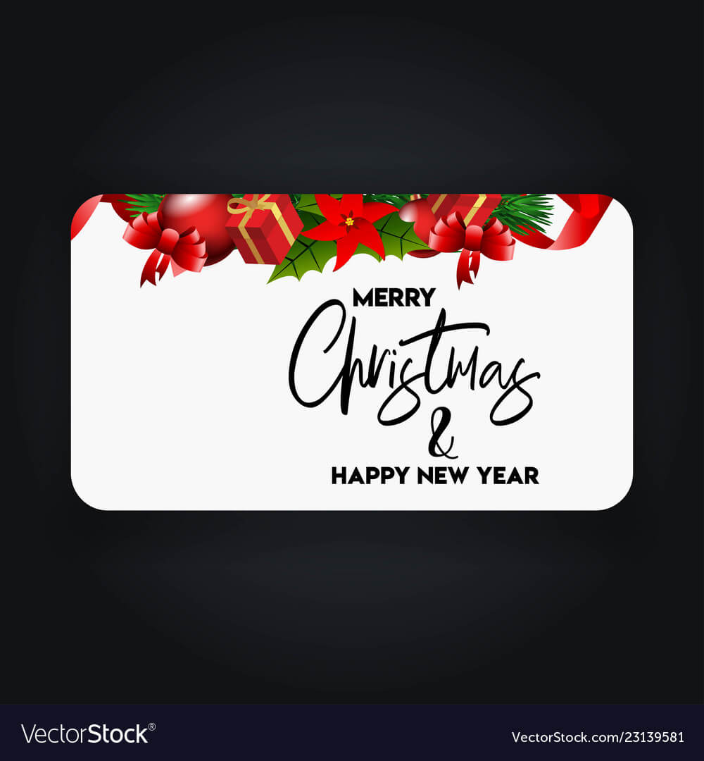 Merry Christmas 2019 Banner Template within Merry Christmas Banner Template