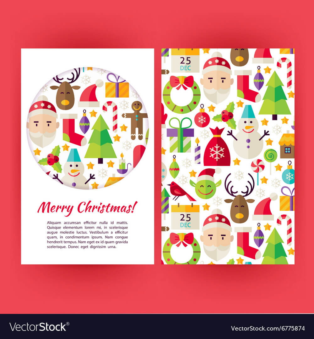 Merry Christmas Banners Set Template With Merry Christmas Banner Template