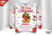 Merry Christmas Flyer Free Psd Psd Zone (Free Christmas for Christmas Brochure Templates Free
