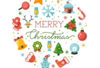 Merry Christmas Round Banner Template With inside Merry Christmas Banner Template