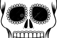 Mexican Sugar Skull Template Stock Vector – Illustration Of Pertaining To Blank Sugar Skull Template