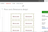 Microsoft Office Place Card Templates – Yupar.magdalene with Amscan Templates Place Cards