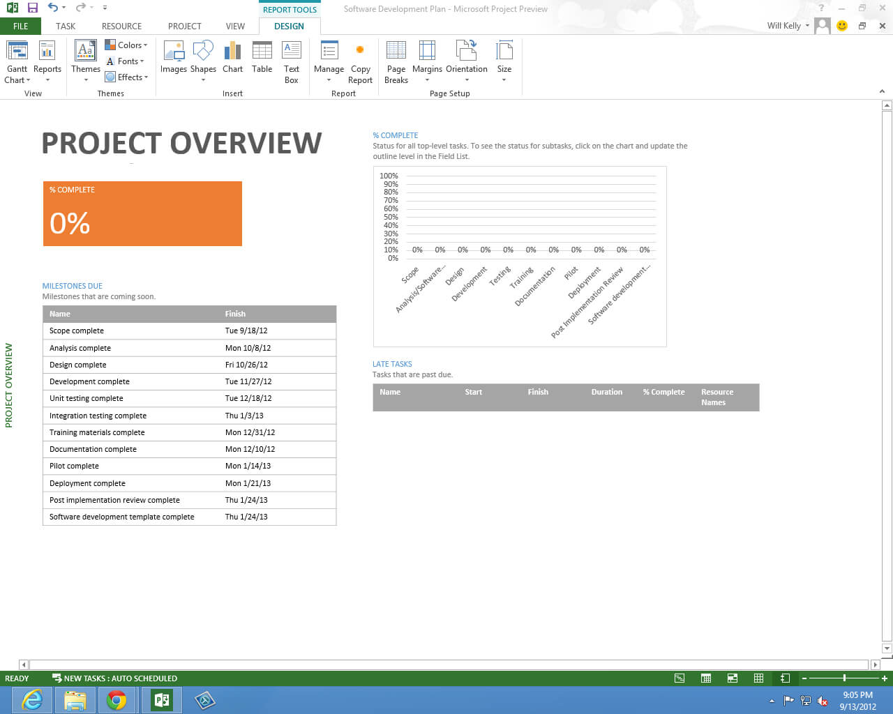 Microsoft Project Professional 2013 New Features Preview in Ms Project 2013 Report Templates