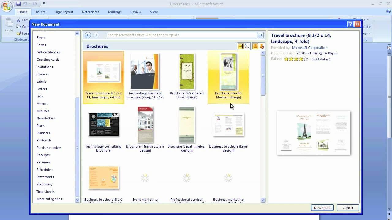 Microsoft Word Brochure Template Regarding Ms Word Brochure Template