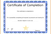 Microsoft Word Certificate Template Download Templates Of pertaining to Free Completion Certificate Templates For Word