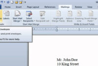 Microsoft Word Envelope – How To Create intended for Word 2013 Envelope Template