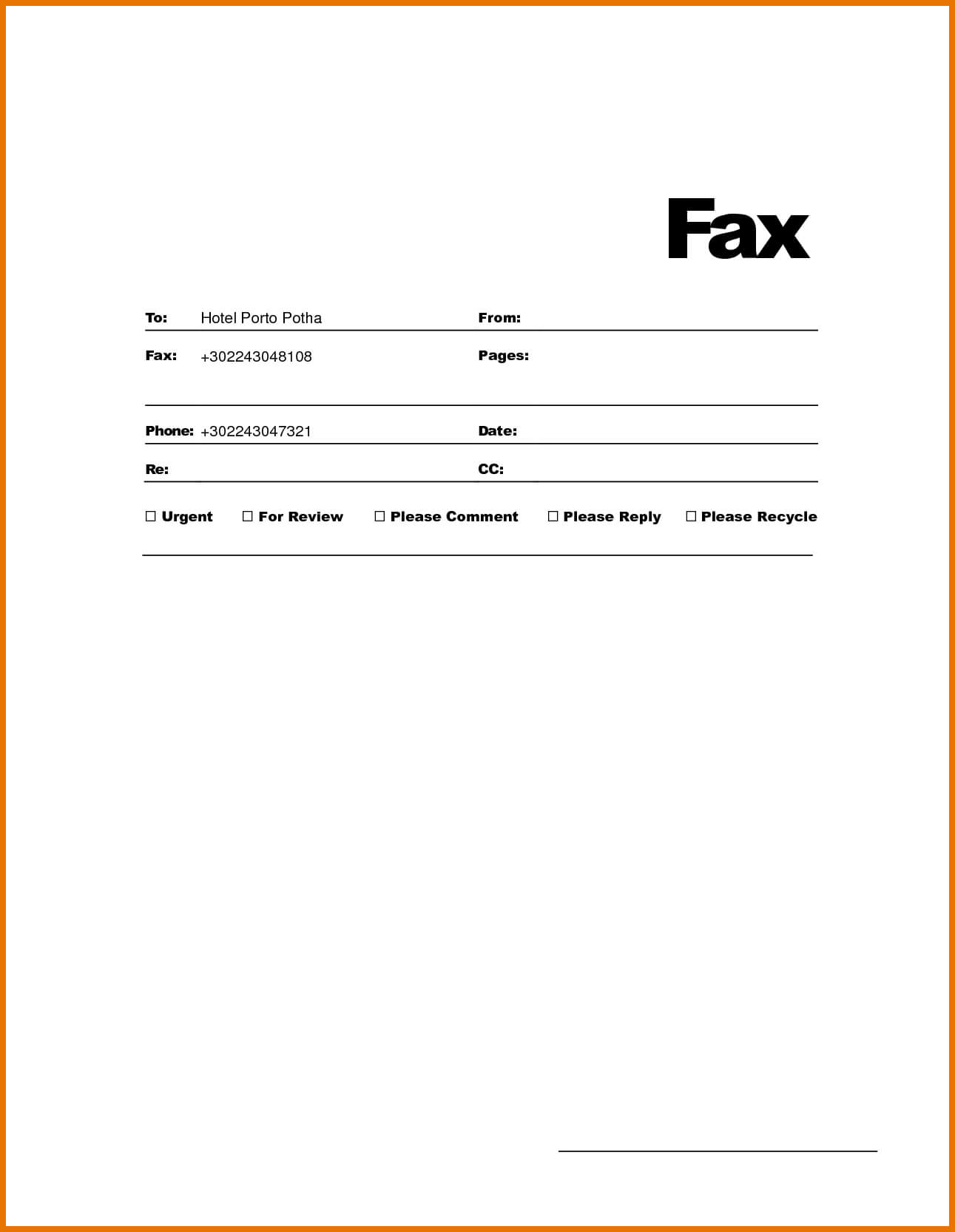 Microsoft Word Fax Cover Letter Template Collection | Letter for Fax Template Word 2010