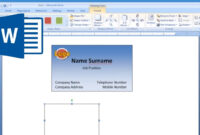 Microsoft Word – How To Make And Print Business Card 2/2 for Business Card Template Word 2010