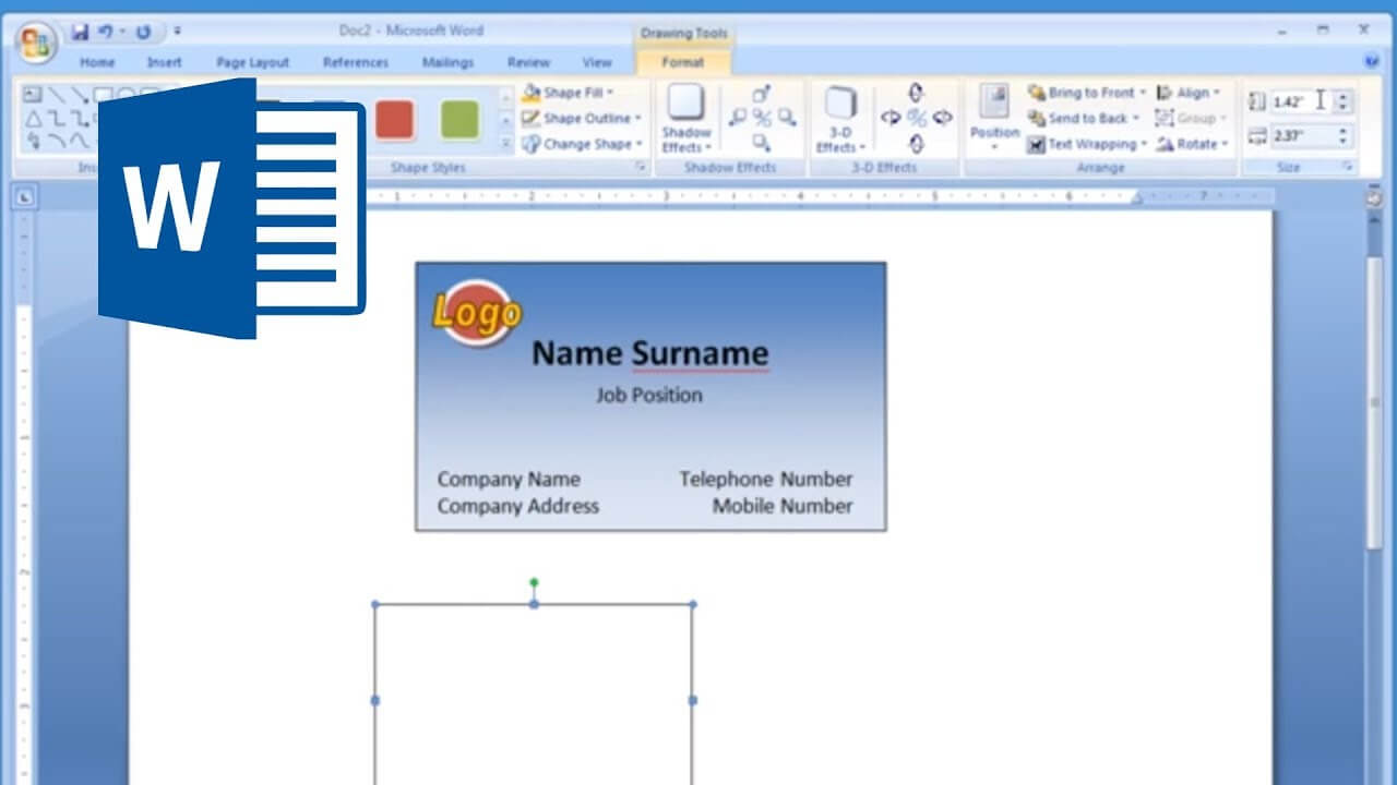 Microsoft Word - How To Make And Print Business Card 2/2 within Business Card Template For Word 2007