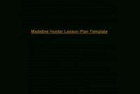 Microsoft Word – Madeline Hunter's Lesson Plan Format inside Madeline Hunter Lesson Plan Blank Template