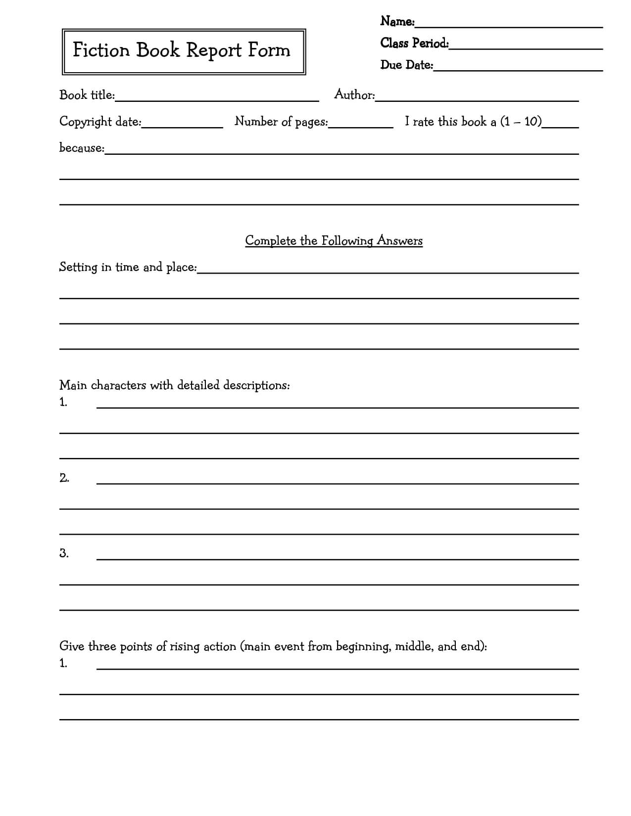 Middle School Book Report Brochure. 6Th Grade | 7Th Grade For Book Report Template 6Th Grade