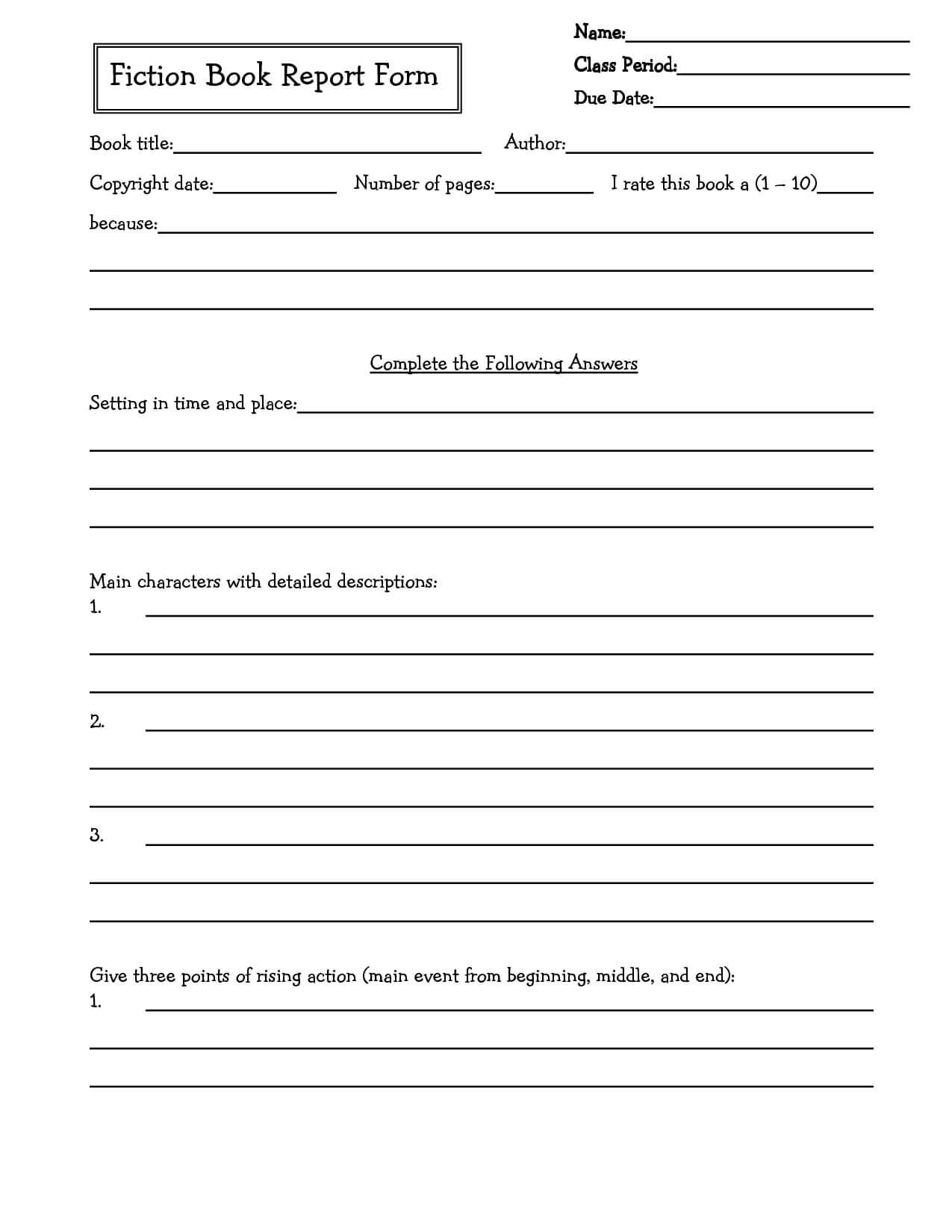 Middle School Book Report Brochure. 6Th Grade | 7Th Grade Inside Book Report Template Middle School