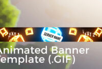 """Minecraft Animated Server Banner Template """"drop The Blocks"""" within Animated Banner Templates"""