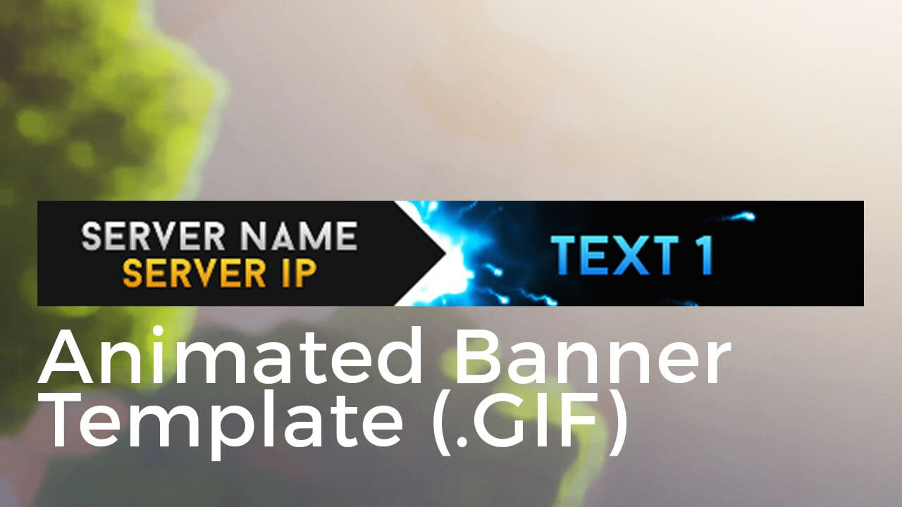 "Minecraft Animated Server Banner Template ""super Dazzle"" Inside Animated Banner Template"
