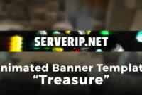 "Minecraft Server Banner Template (Gif) – ""treasure"" inside Minecraft Server Banner Template"