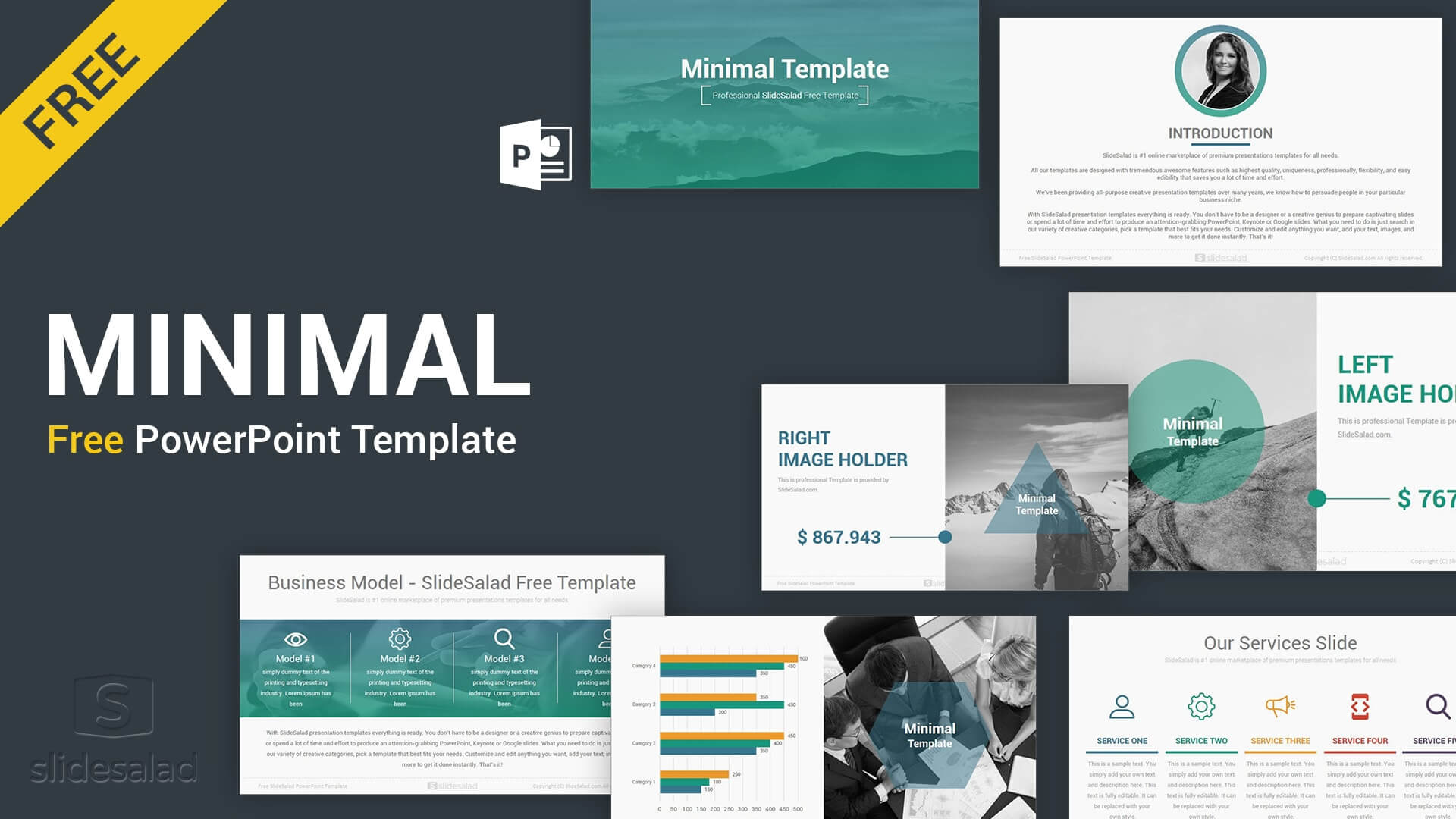 Minimal Free Download Powerpoint Template - Slidesalad in Free Powerpoint Presentation Templates Downloads