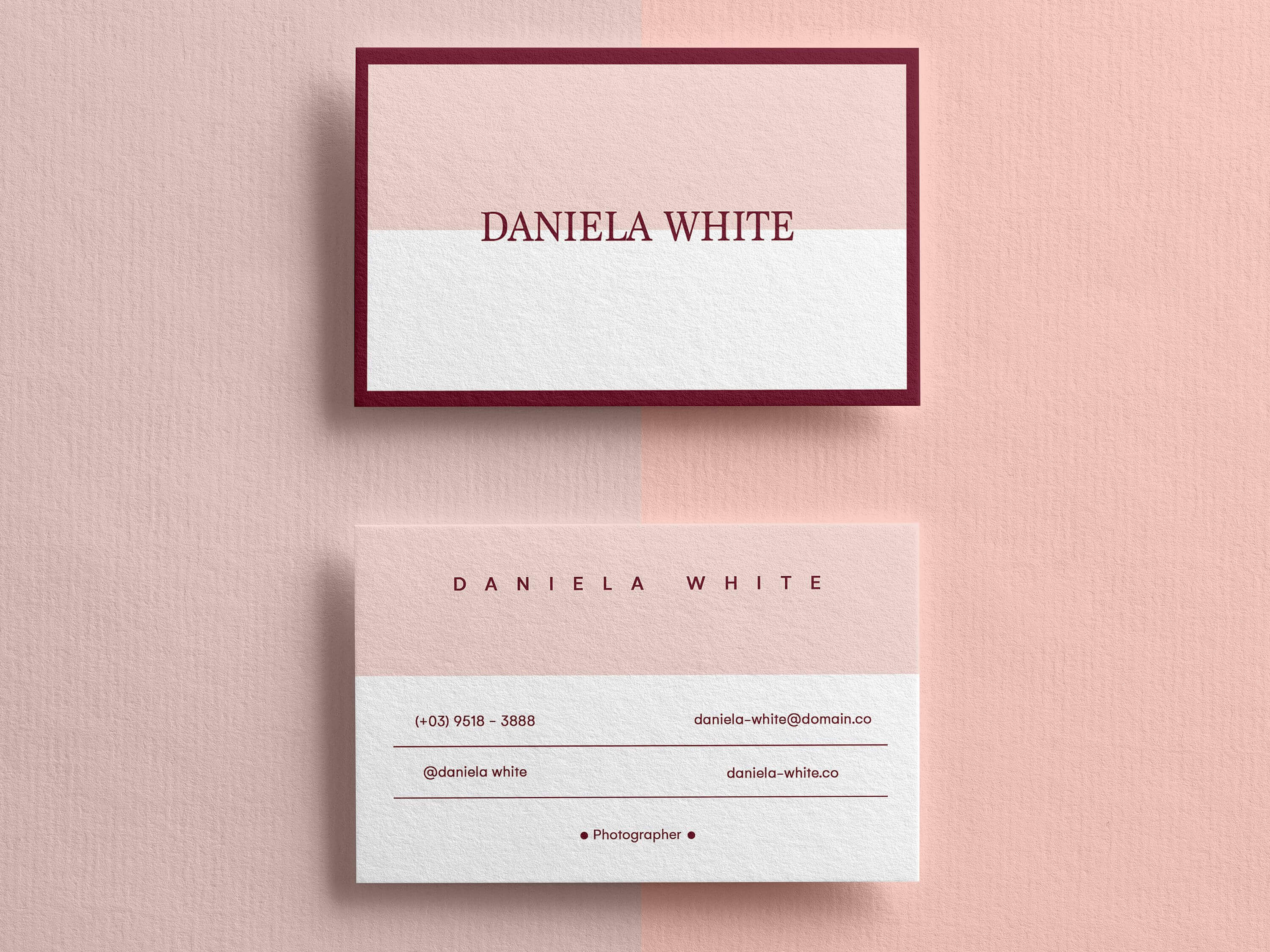 Minimalist Business Card, Modern Business Cards, Business In Template For Calling Card