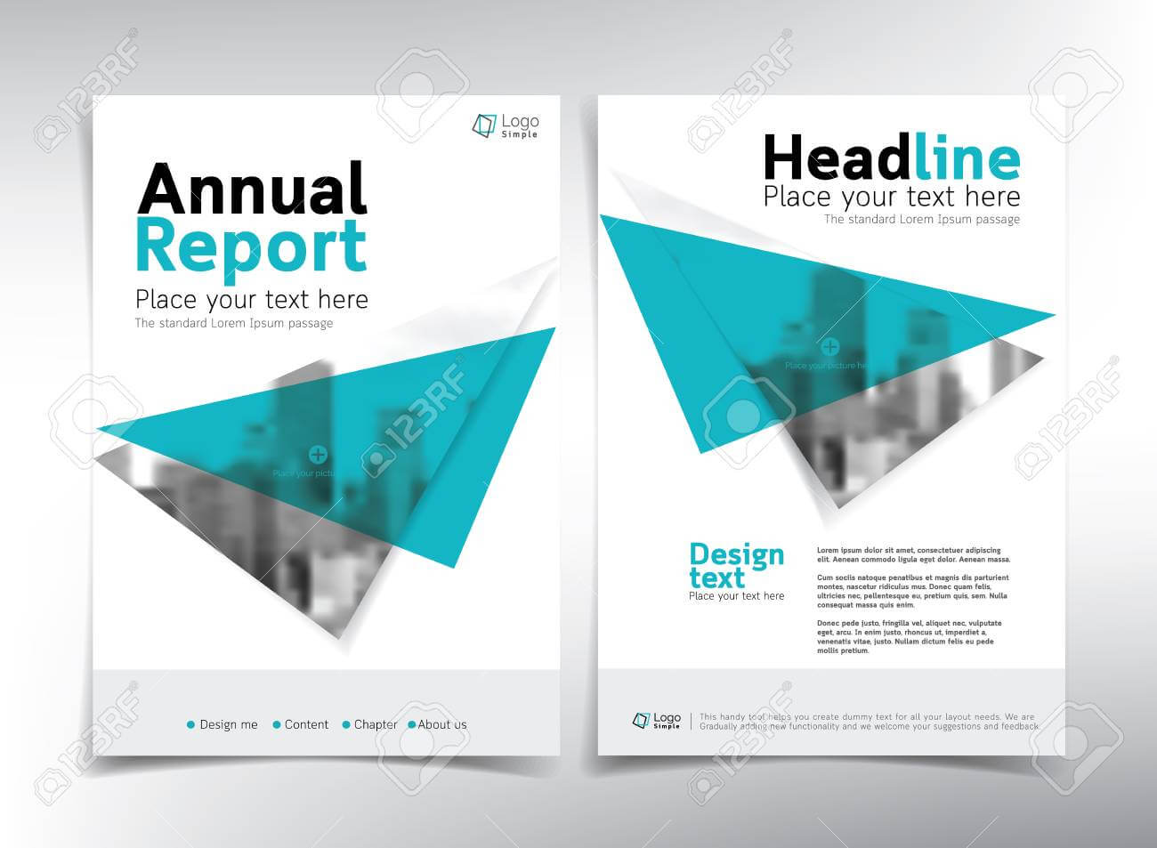Minimalist Business Cover Page, Vector Template - Can Be Used.. pertaining to Cover Page For Annual Report Template
