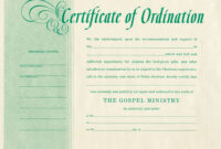 Minister License Certificate Template – Carlynstudio pertaining to Certificate Of License Template