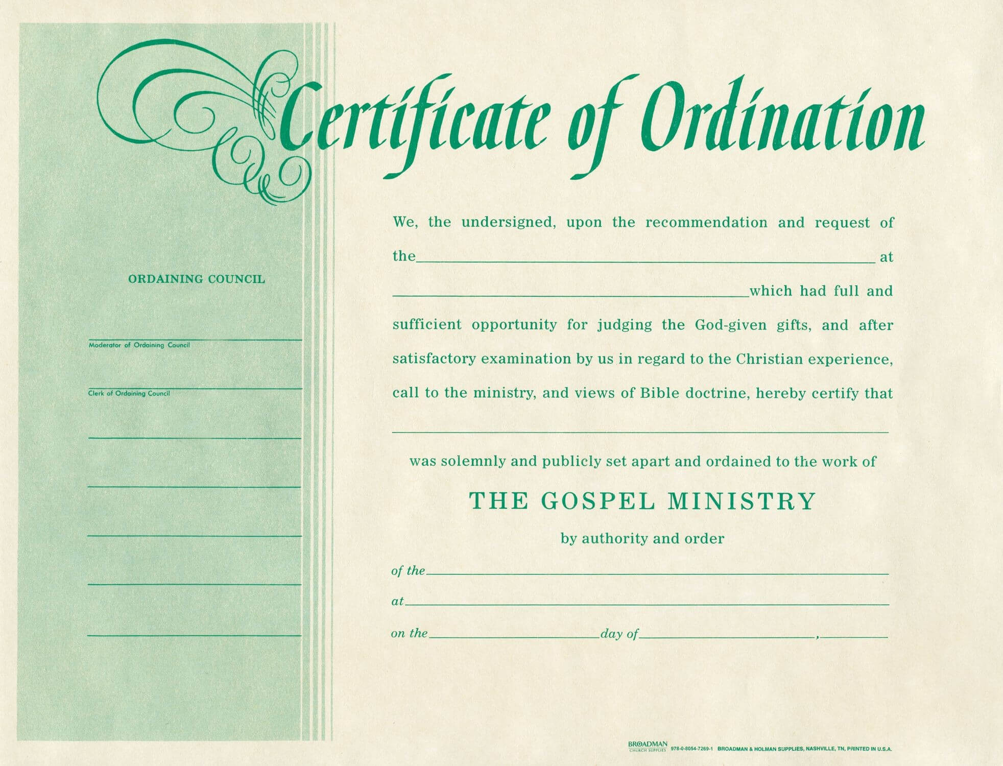 Minister License Certificate Template - Carlynstudio pertaining to Certificate Of License Template