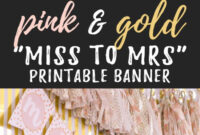 Miss To Mrs Banner – Free Printable | Bridal Shower Banner in Bridal Shower Banner Template