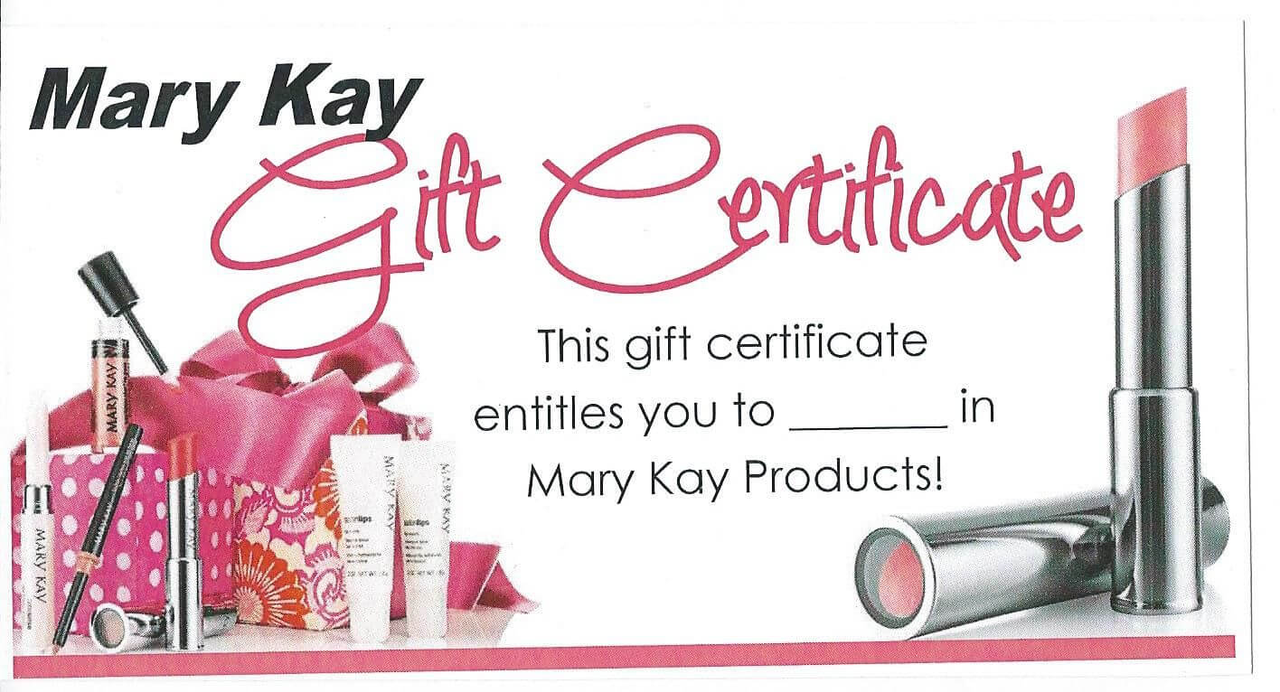 Mk Gift Certificate … | My Mk In 2019 | Mary Kay for Mary Kay Gift Certificate Template