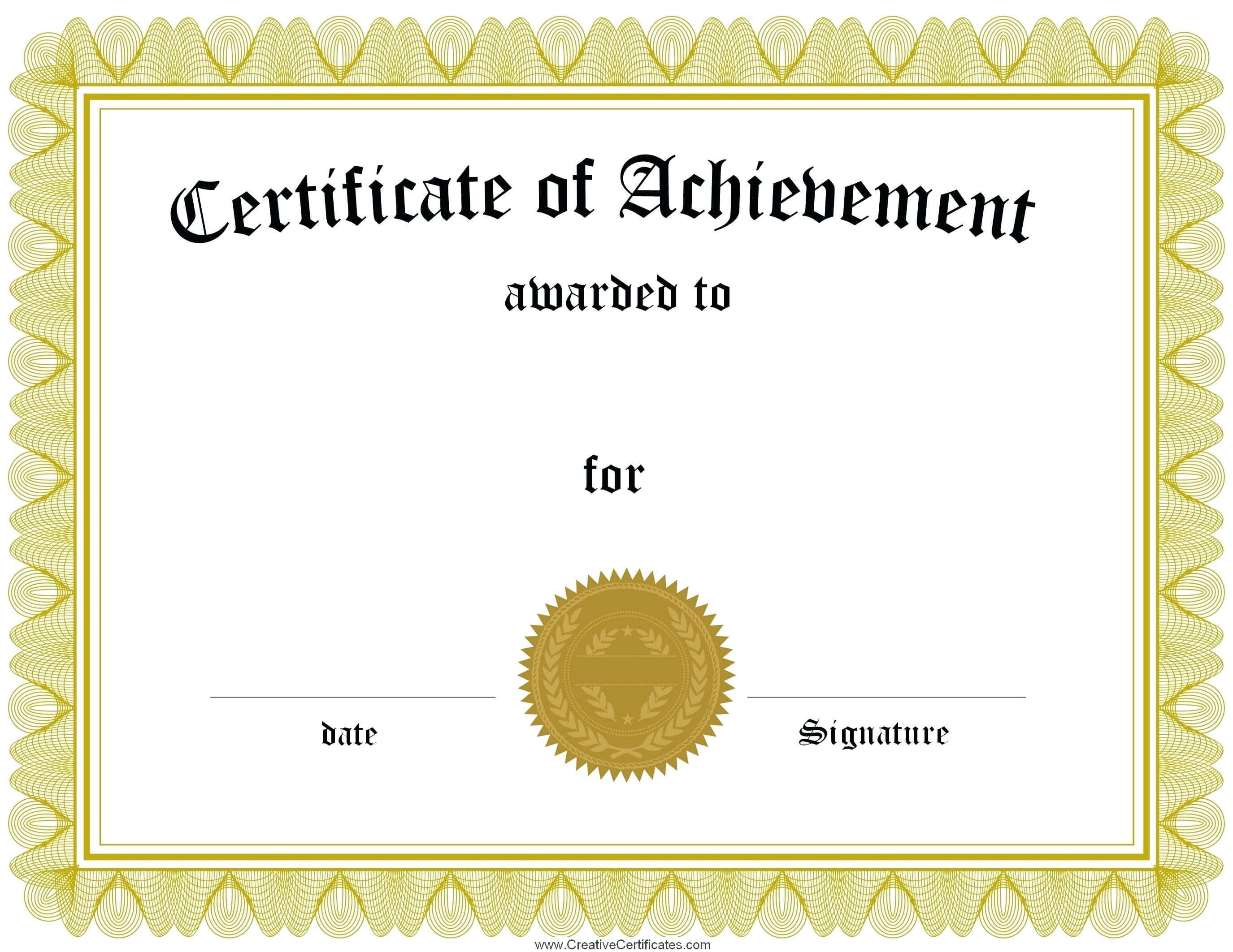 Mock Certificate Template - Atlantaauctionco with Mock Certificate Template