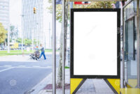 Mock Up Banner Template At Bus Stop Media Outdoor City intended for Street Banner Template