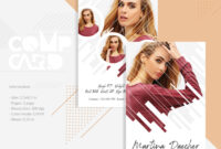 Model Comp Card Template | Modeling Comp Card | Fashion Card | Ms Word,  Photoshop And Elements Template | Instant Download inside Download Comp Card Template