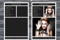 Model Comp Card Template pertaining to Free Model Comp Card Template Psd